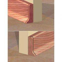 Set 4 buc piese de inchidere plinta (2 buc. dreapta + 2 buc. stanga) pentru plinta PVC culoare cires