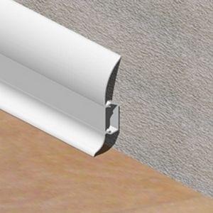 Plinta LINECO din PVC culoare alba pentru parchet - 60 mm