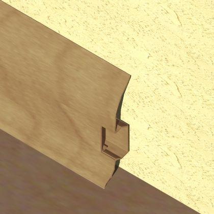 Plinta LINECO din PVC culoare stejar vechi pentru parchet - 60 mm