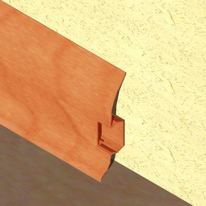 Plinta LINECO din PVC culoare cires pentru parchet - 60 mm