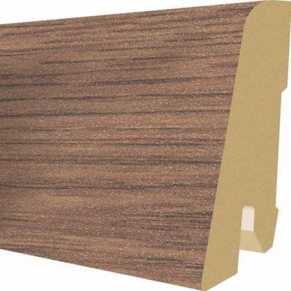 Plinta MDF Egger 60x17 mm culoare Stejar Bourbon inchis