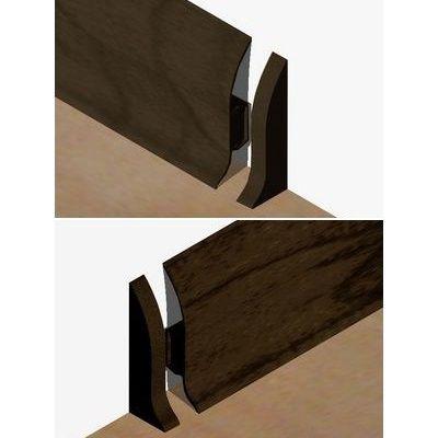 Set 4 buc piese de inchidere plinta (2 buc. dreapta + 2 buc. stanga) pentru plinta PVC culoare zebrano