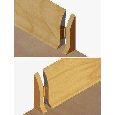Set 4 buc piese de inchidere plinta (2 buc. dreapta + 2 buc. stanga) pentru plinta PVC culoare stejar deschis