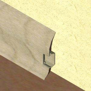 Plinta LINECO din PVC culoare gri artar pentru parchet - 60 mm