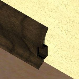 Plinta LINECO din PVC culoare zebrano pentru parchet - 60 mm