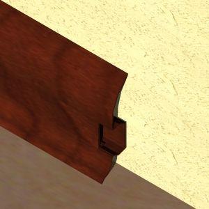 Plinta LINECO din PVC culoare palisandru pentru parchet - 60 mm