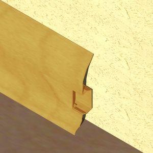 Plinta LINECO din PVC culoare stejar auriu pentru parchet - 60 mm