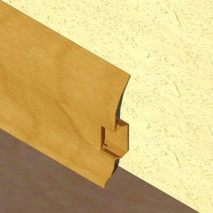 Plinta LINECO din PVC culoare stejar inchis pentru parchet - 60 mm