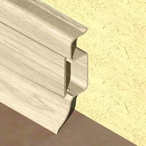 Plinta PROLUX din PVC culoare fag inchis pentru parchet 50 mm