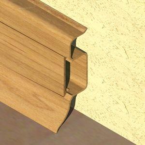 Plinta PROLUX din PVC culoare stejar inchis pentru parchet 50 mm