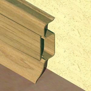 Plinta PROLUX din PVC culoare stejar pentru parchet 50 mm