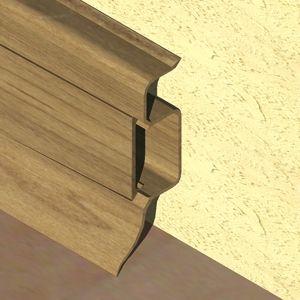 Plinta PROLUX din PVC culoare stejar vechi pentru parchet 50 mm