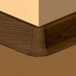 Set 4 buc piese de colt exterior pentru plinta PVC culoare stejar maroniu