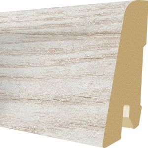 Plinta MDF Egger 60x17 mm culoare Stejar alb Cottage