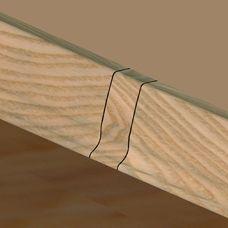 Set 4 buc piese de legatura pentru plinta PVC culoare fag