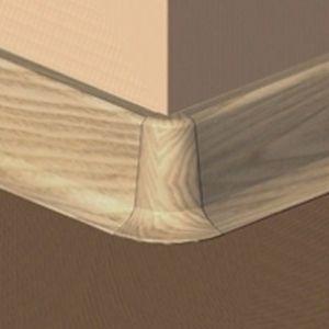 Set 4 buc piese de colt exterior pentru plinta PVC culoare fag inchis