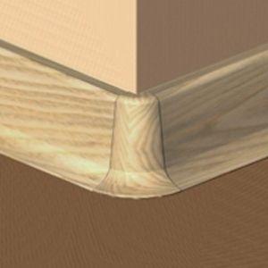 Set 4 buc piese de colt exterior pentru plinta PVC culoare stejar
