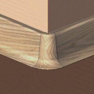 Set 4 buc piese de colt exterior pentru plinta PVC culoare stejar deschis