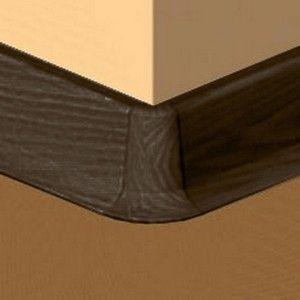 Set 4 buc piese de colt exterior pentru plinta PVC culoare zebrano