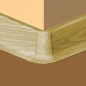 Set 4 buc piese de colt exterior pentru plinta PVC culoare stejar auriu