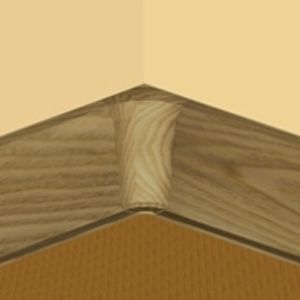 Set 4 buc piese de colt interior pentru plinta PVC culoare stejar inchis