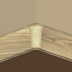 Set 4 buc piese de colt interior plinta PBC fag inchis
