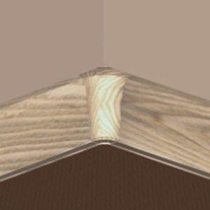 Set 4 buc piese de colt interior pentru plinta PVC culoare fag
