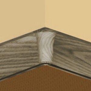 Set 4 buc piese de colt interior pentru plinta PVC culoare gri maroniu