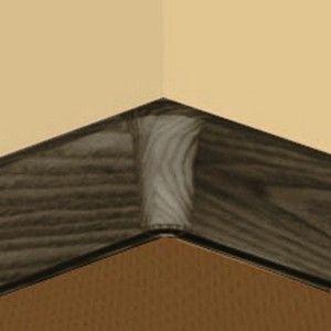 Set 4 buc piese de colt interior pentru plinta PVC culoare zebrano