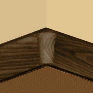 Set 4 buc piese de colt interior pentru plinta PVC culoare stejar maroniu