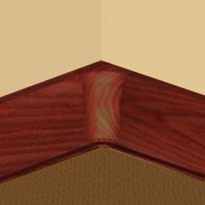 Set 4 buc piese de colt interior pentru plinta PVC culoare nuc inchis