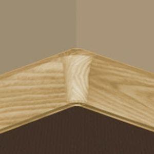 Set 4 buc piese de colt interior pentru plinta PVC culoare stejar auriu