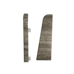Set 2 buc. capac stanga / dreapta pentru plinta MDF culoare stejar gri