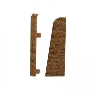 Set 2 buc. capac stanga / dreapta pentru plinta MDF culoare stejar miere