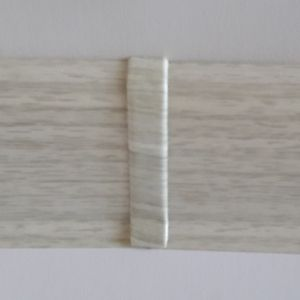 Set 4 buc. piese Lineco imbinare mijloc pentru plinta PVC culoare frasin alb