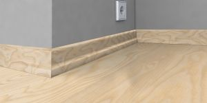 Plinta lemn 22x60x2400 mm Karelia Ash Matt Lacquer