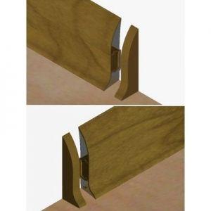 Set 4 buc piese de inchidere plinta (2 buc. dreapta + 2 buc. stanga) pentru plinta PVC culoare nuc inchis