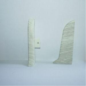 Set 4 buc. piese Lineco inchidere plinta (2 buc. dreapta + 2 buc. stanga) pentru plinta PVC culoare frasin alb