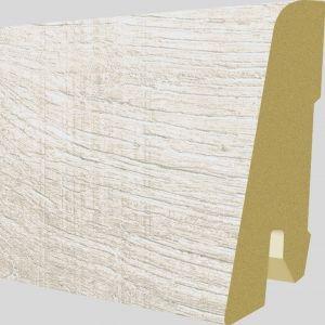 Plinta MDF Egger 60x17 mm culoare Stejar Corton Alb